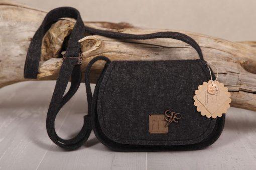 Trachtentasche / Dirndltasche m. Libelle Schwarz
