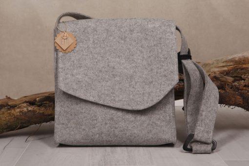 Filztasche Businesstasche Grau Gr. XL