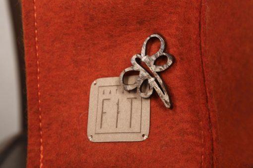 Filztasche City Bag Rost-Rot Schließe aus Horn
