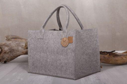 Filztasche Shopper Big Nature Grau Gr. L