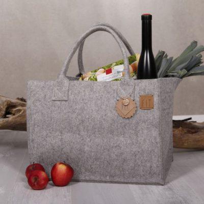 Filztasche Shopper Big Nature Grau Gr. XL