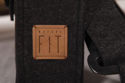 Filztasche Businesstasche Schwarz Kork Gr. XL