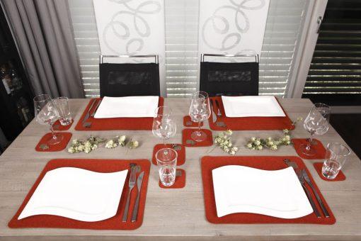 Tischset Platzset Herbst, Rost