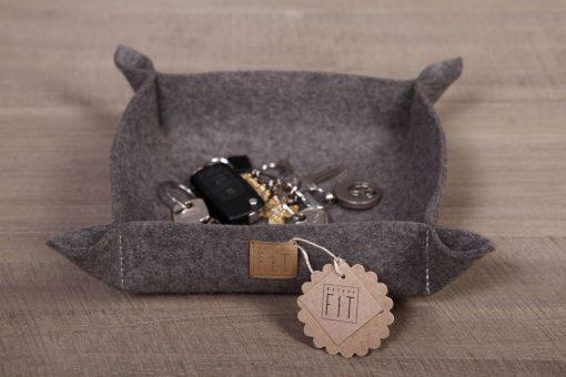 Schlüsselschale / Dekoschale Braun