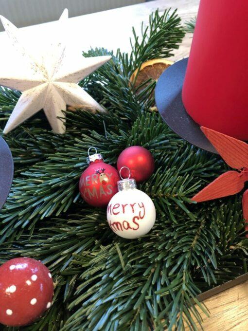 Besteckhalter Weihnachten, Grau