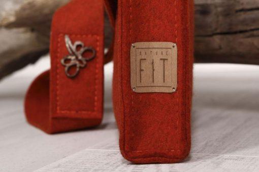 Filztasche Umhängetasche Rost-Rot Borke Gr. M