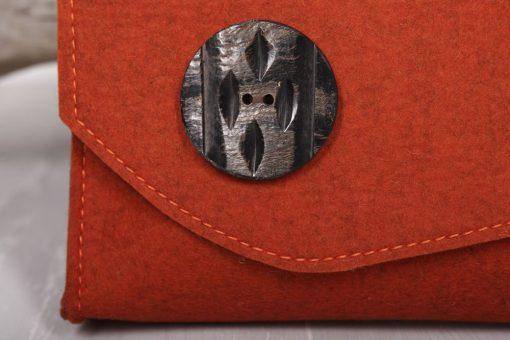 Filztasche Umhängetasche Rost-Rot Borke Gr. L