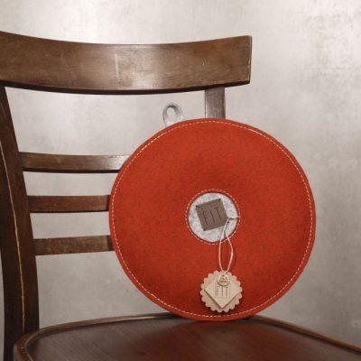 Yogakissen / Sitzkissen Rost-Rot