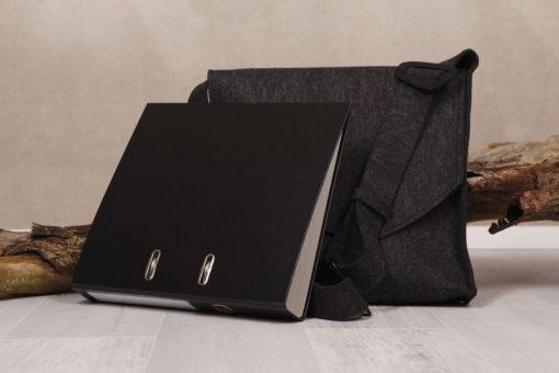 Filztasche Businesstasche Schwarz Gr. XL
