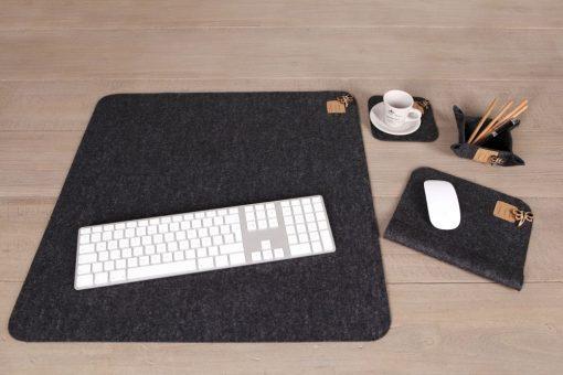 Schreibtisch-Office-Set (4) Schwarz