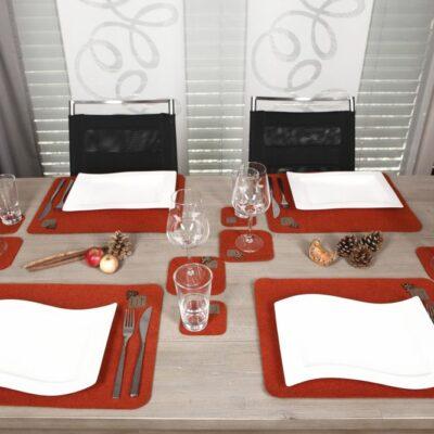 Tischset Platzset Weihnachten, Rot