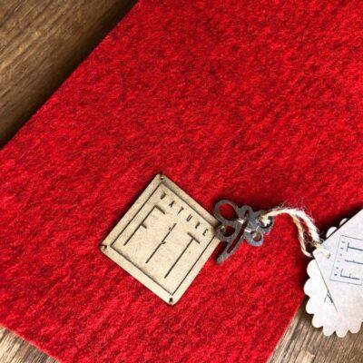 Tischband Filzband Weihnachten, Rot